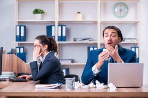 Viren und Bakterien sind allgegenwärtig, auch im Büro.